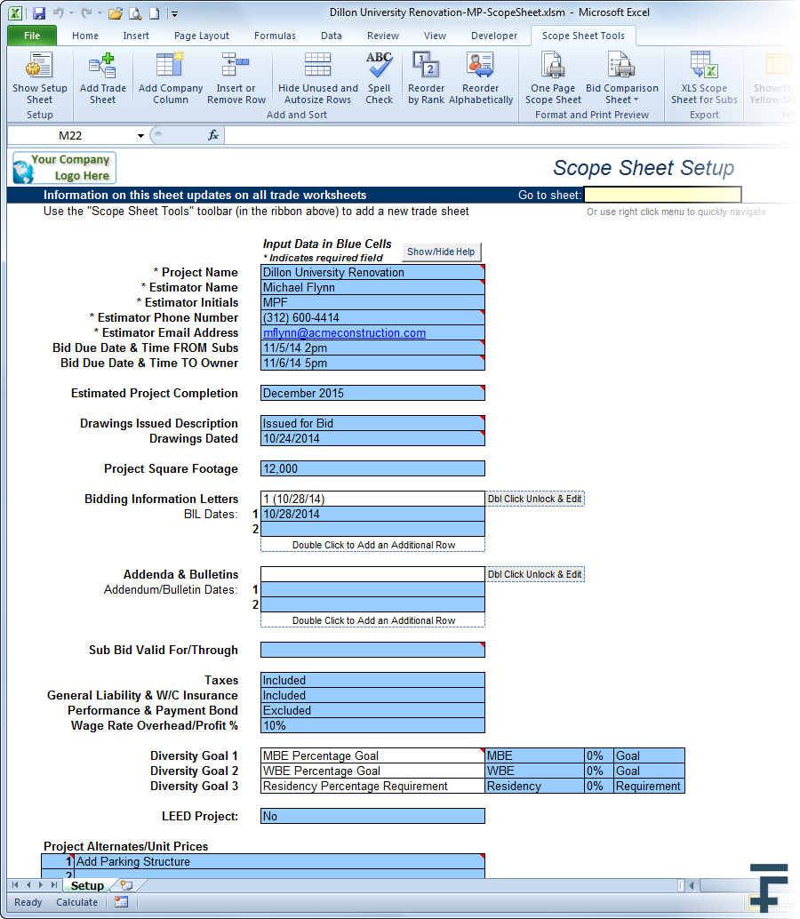 14fathoms scope sheet leveling comparison template